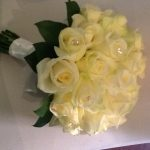 Ivory Roses with Diamontie detail