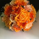 Silk hand tied of Roses and Gerberas