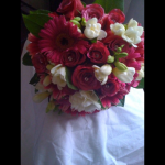 Hand Tied of Roses, Freesia and Gerbera