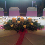 Candle Top Table Arrangement