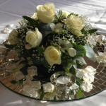 Posy Table Centre Piece - Mirror Available for hire