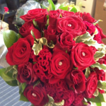 Hand Tied of Roses and Celosia